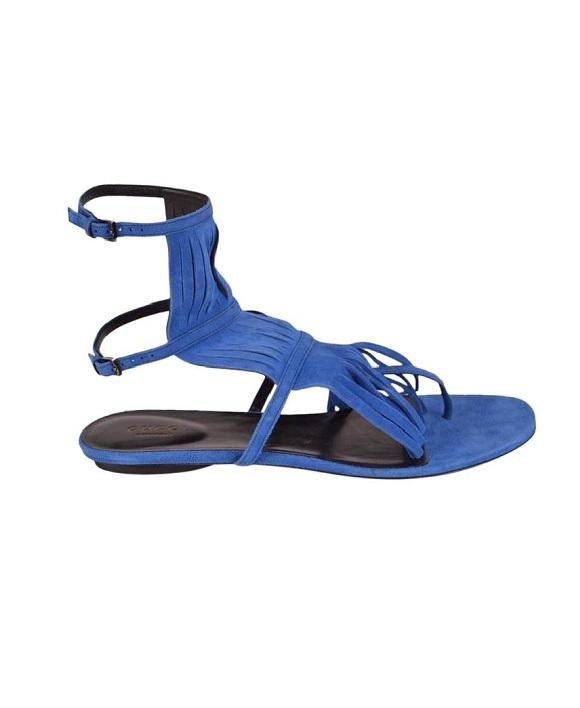 db2213d9a799 GUCCI Fringe Flat Sandals - Fashion De Alta